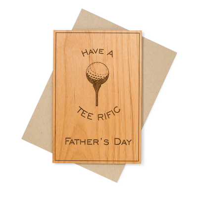 Golf Theme Father's Day  Wood Card