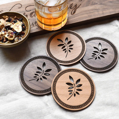 Wooden Drink Coasters for Rustic Home