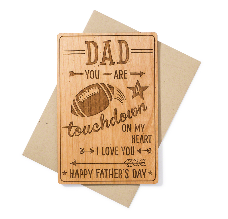 Football Dad Fathers Day Card