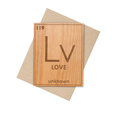 Love Element Nerdy Mini Wood Card