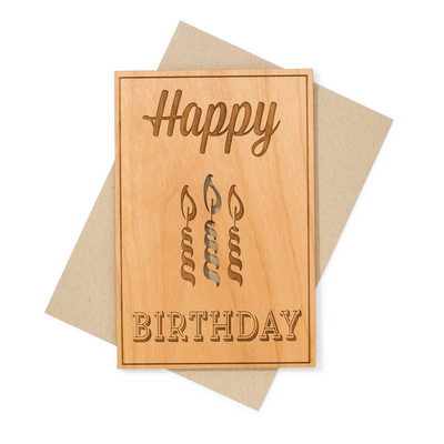 Birthday Celebration Wood Card