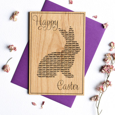 Easter Bunny Wood Card