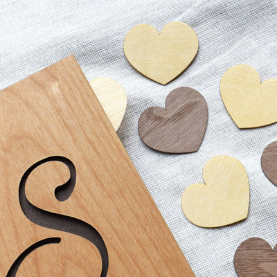 Blank Heart Shaped Page Dividers for Notebooks