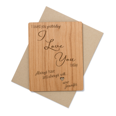 I love You Always Wood Card