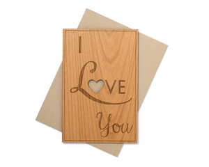 I Love You Wood Card