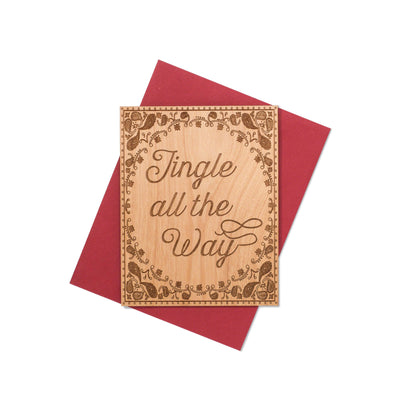 Jingle All the Way Christmas Mini Wood Card