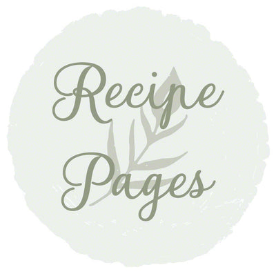 Recipe Pages for 5.25 x 7.25 Wooden Recipe Notebook Upgrade