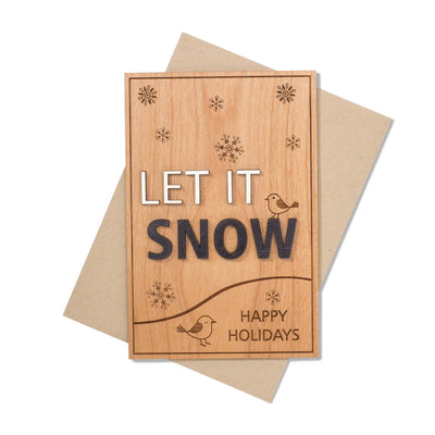 Let It Snow Xmas Card