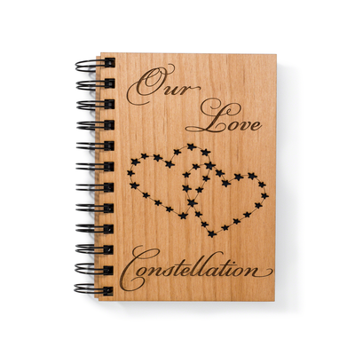 Couples Love Diary Wooden Notebook