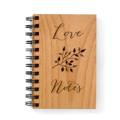 Love Notes Wooden Notebook
