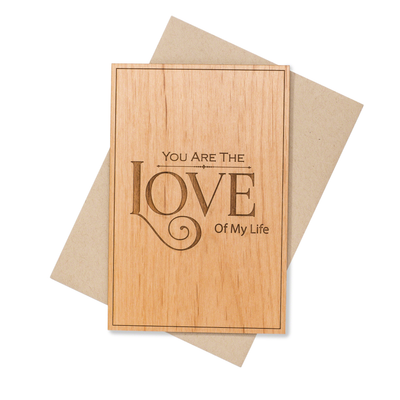 Romantic 5th Year Anniversary Wood Card