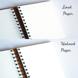 Lined Paper for Wood Notebook