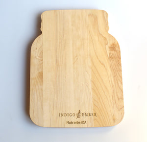 Personalized Mason Jar Wood Serving Board