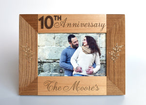 Engraved Photo Frame by Indigo Ember