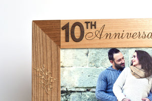 Engraved Photo Frame Wood