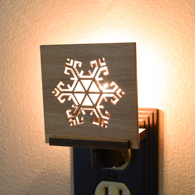 Wooden Christmas Nightlight by Indigo Ember