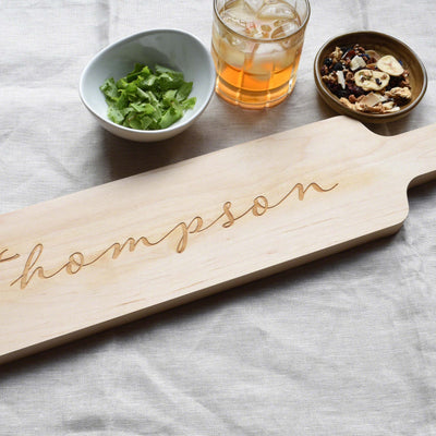 Personalized Bread Board