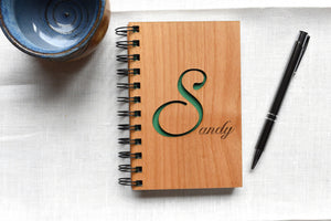 Personalized Wood Bound Notebook