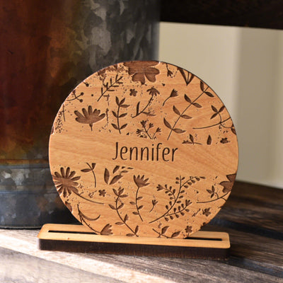 Unique Rustic Table Name Cards for Dinner Party