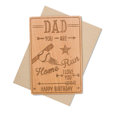 Dad Birthday Card Wood
