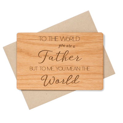 Fathers Day Card for Dad Real Wood