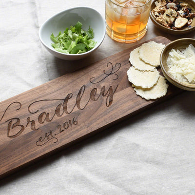 Walnut Wood Serving Board by Indigo Ember