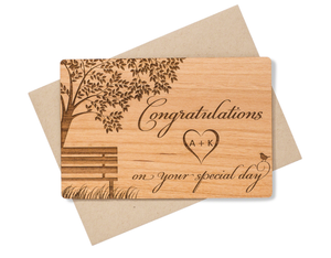 Personalized Wedding Congratulations Card