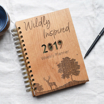 Woodlands Personalized Planner Wood Covers