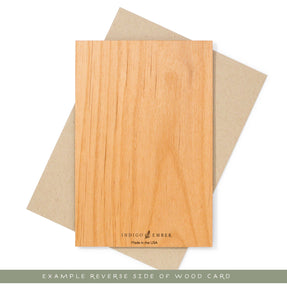 Back of Wood Card by Indigo Ember