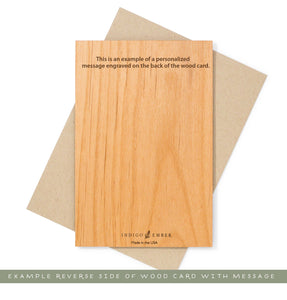 Personalized Message on Back Wood Card