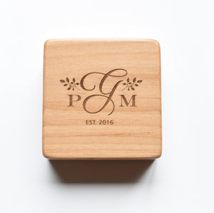 Wedding Gift for Couple Wooden Box