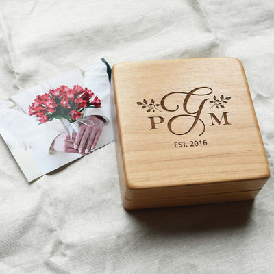 Wooden Memory Keepsake Box by Indigo Ember