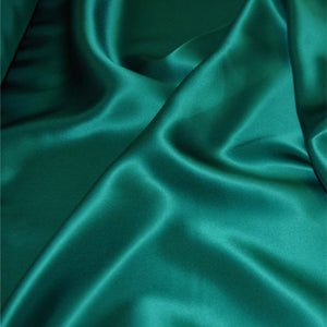 Jade green satin