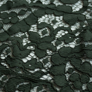 Hunter green lace