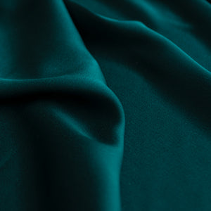 Peacock green satin