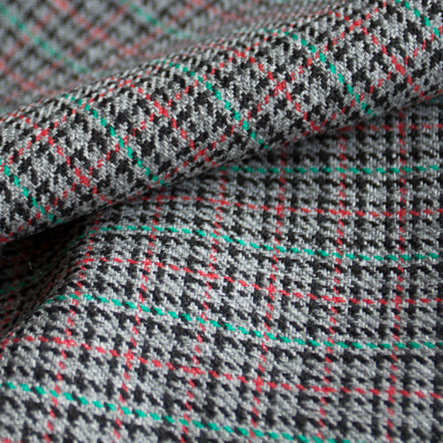 custom skirts fabric multi-colored houndstooth