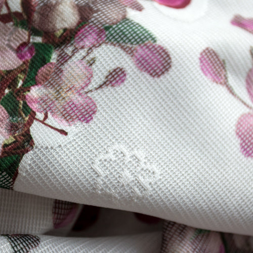custom skirts fabric white with floral