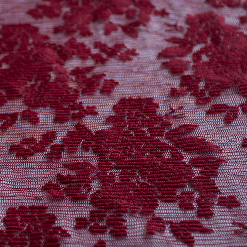 custom skirts fabric red floral lace