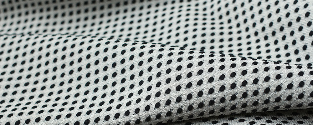 custom skirts fabric black polka dots
