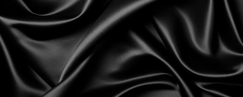 custom skirts fabric black satin