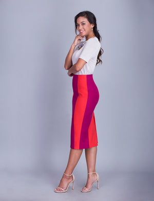 Iris custom pencil skirt