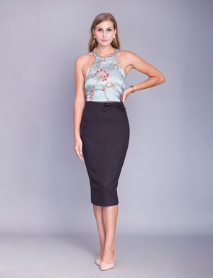 Jennifer custom pencil skirt- midi<!--gray-->