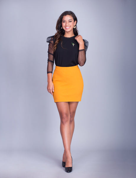Lillian custom pencil skirt- mini<!--yellow-->