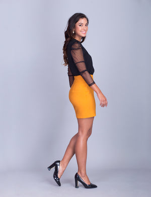 Lillian custom pencil skirt- mini- Exclusive offer!<!--yellow-->