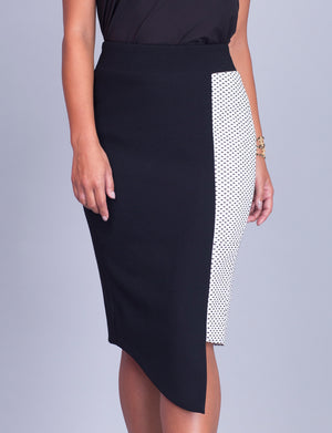 Crystal custom pencil skirt