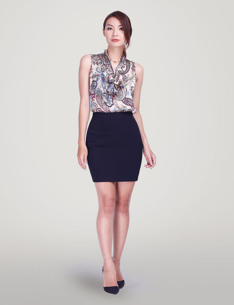 Lillian custom pencil skirt- mini<!--black blue--><!--aw-->