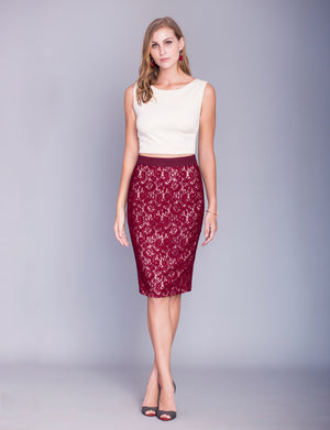 Irene custom pencil skirt