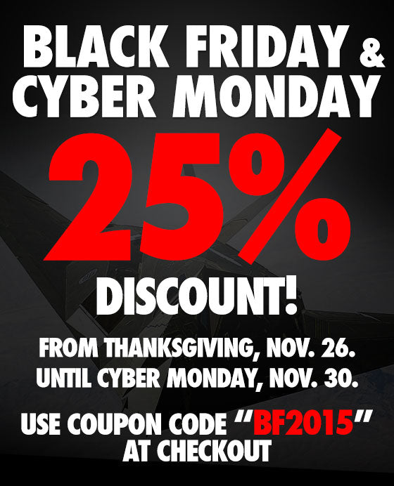 Black Friday & Cyber Monday: 25% OFF!
