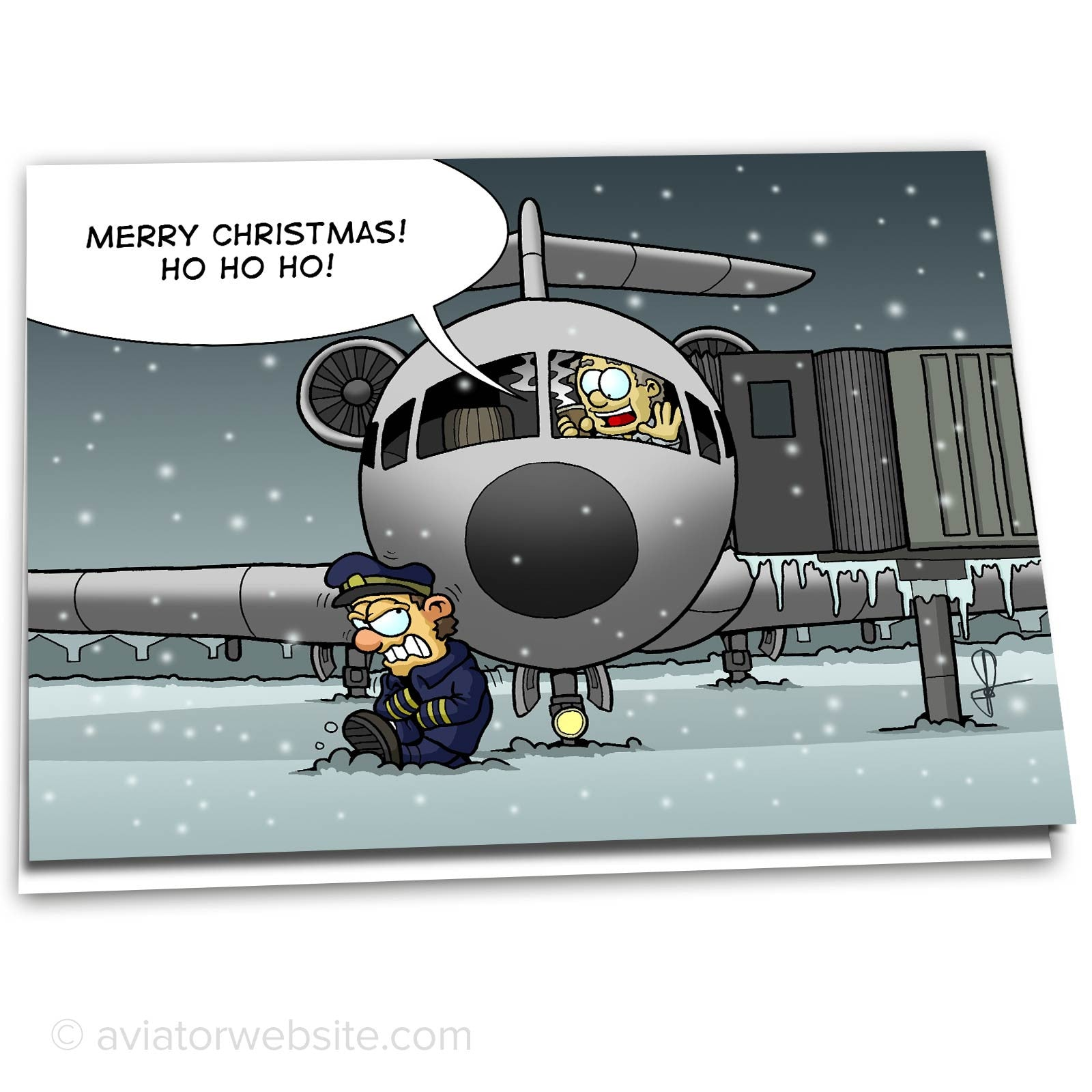 airplane christmas card merry christmas first officer 10 cards - Airplane Christmas Cards