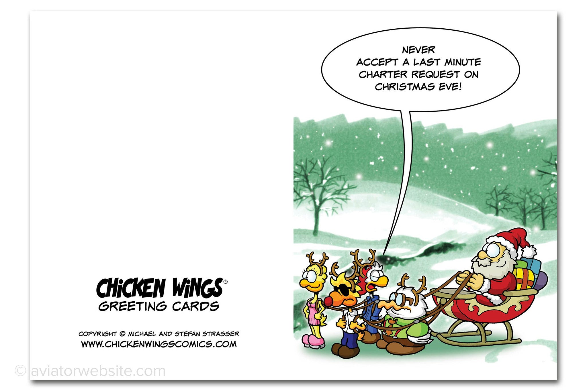 Christmas card last minute charter chicken wings 10 cards chicken wings christmas card kristyandbryce Gallery